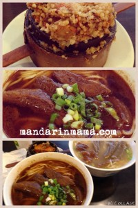 pork short ribs and sweet potato, spicy and regular beef tendon noodle soup