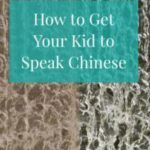 How to Get Your Kid to Speak Chinese