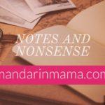 Notes and Nonsense