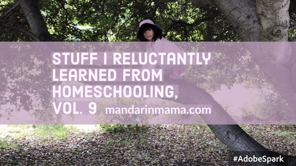Stuff I Reluctantly Learned from Homeschooling, Vol. 9
