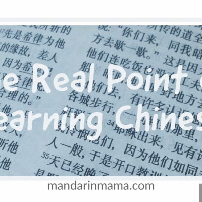 The Real Point of Learning Chinese