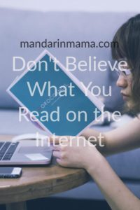 Don't Believe What You Read on the Internet