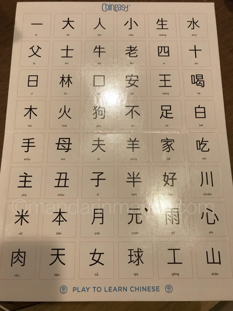 Chineasy tiles Chinese characters chart