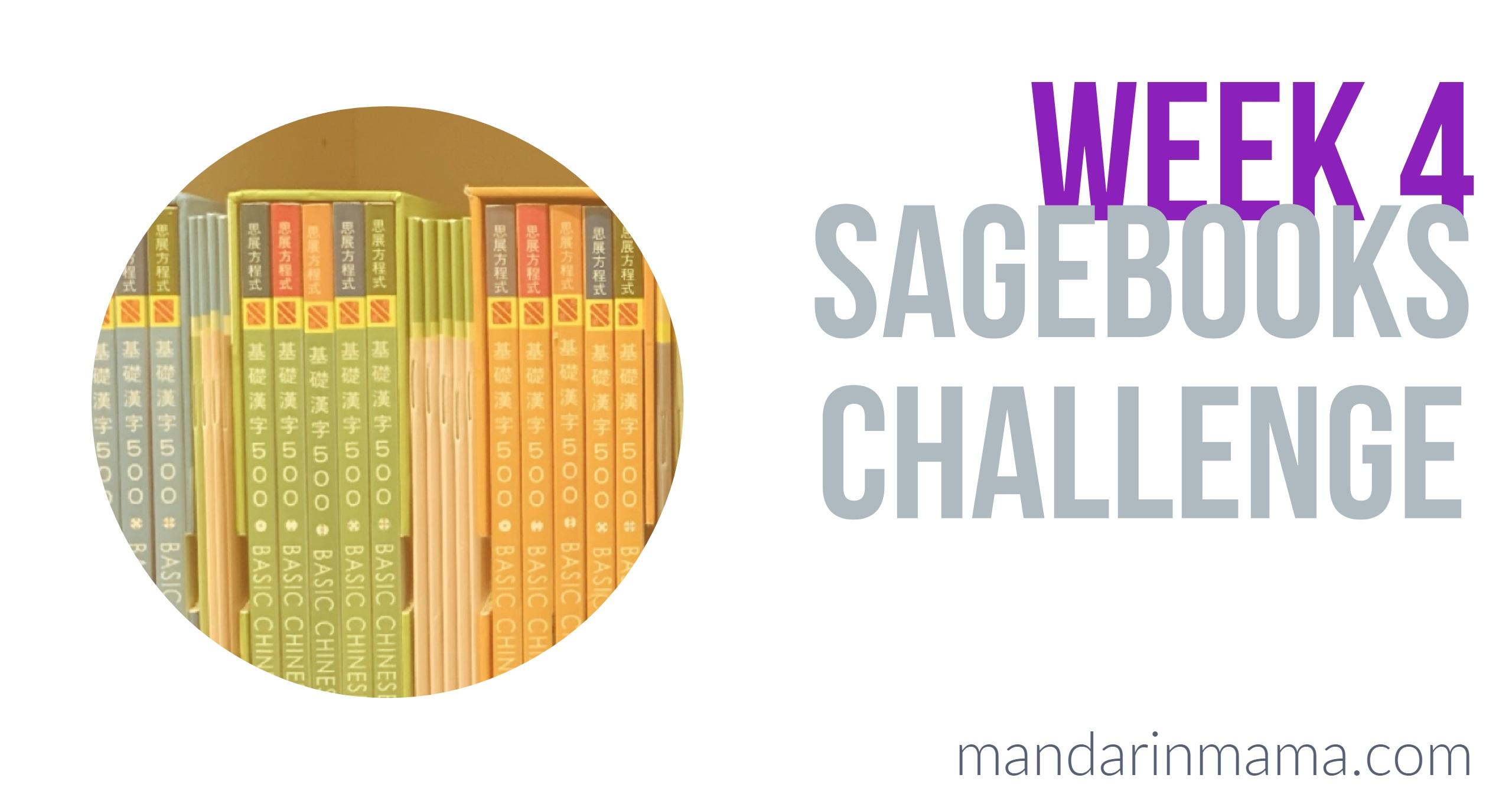 Sagebooks Challenge: Week 4