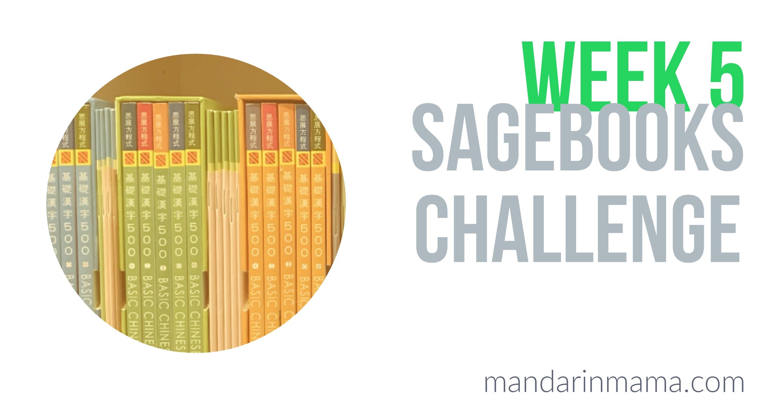 Sagebooks Challenge Week 5