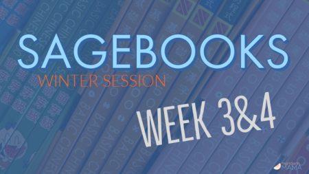 Sagebooks Winter Session: Weeks 3&4