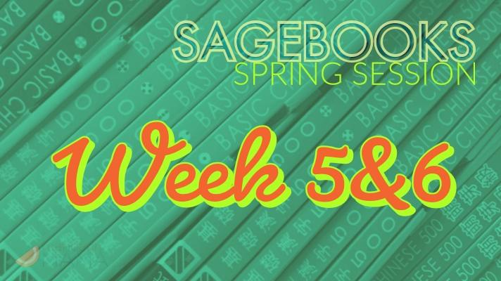 Sagebooks Spring 2019 Session: Week 5&6
