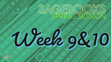 Sagebooks Spring 2019 Session: Week 9&10
