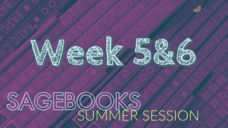 Sagebooks Summer Session Update: Week 5&6