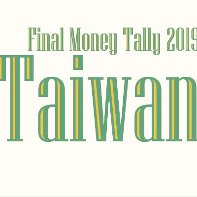 Final Money Tally for Taiwan Trip 2019